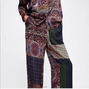 Zara Patchwork Pants